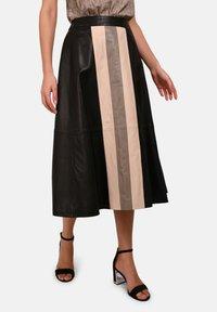 Oakwood - LUCILLE - Áčková sukně - black - 0