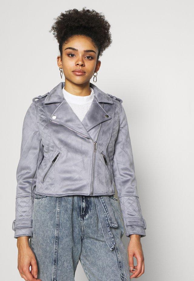 Faux leather jacket - blue