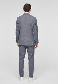 s.Oliver BLACK LABEL - Veste de costume - dark blue check - 2