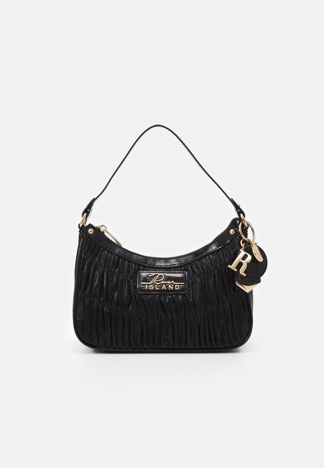 SCOOP SHOULDER ROUCHED - Borsa a mano - black