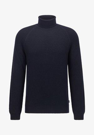 NOVENZO - Stickad tröja - dark blue