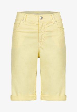 Denim shorts - gelb