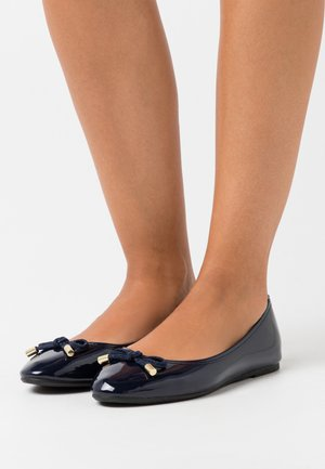 WITH BOW DETAIL - Ballet pumps - navy