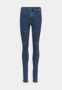 Vero Moda Tall - VMHOT SEVEN BIKER PANTS - Jeans Skinny Fit - medium blue denim - 0