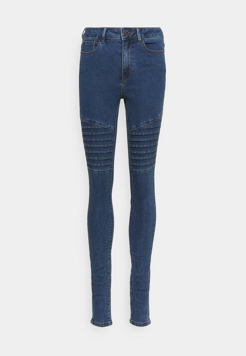 Vero Moda Tall - VMHOT SEVEN BIKER PANTS - Jeans Skinny Fit - medium blue denim