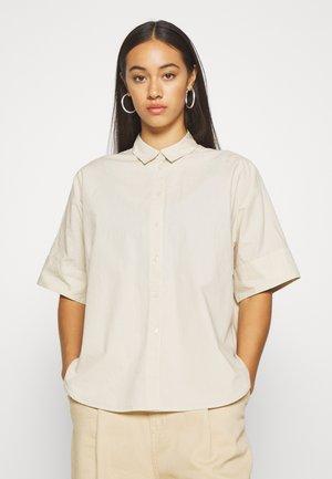 LUCA BLOUSE - Button-down blouse - beige