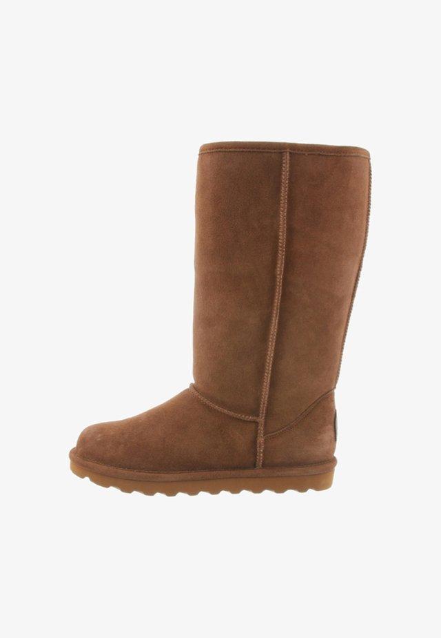 ELLE TALL - Winter boots - cognac