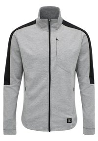 Hummel - HMLTROPPER - Zip-up hoodie - grey melange - 0