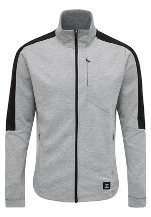 HMLTROPPER - Zip-up hoodie - grey melange