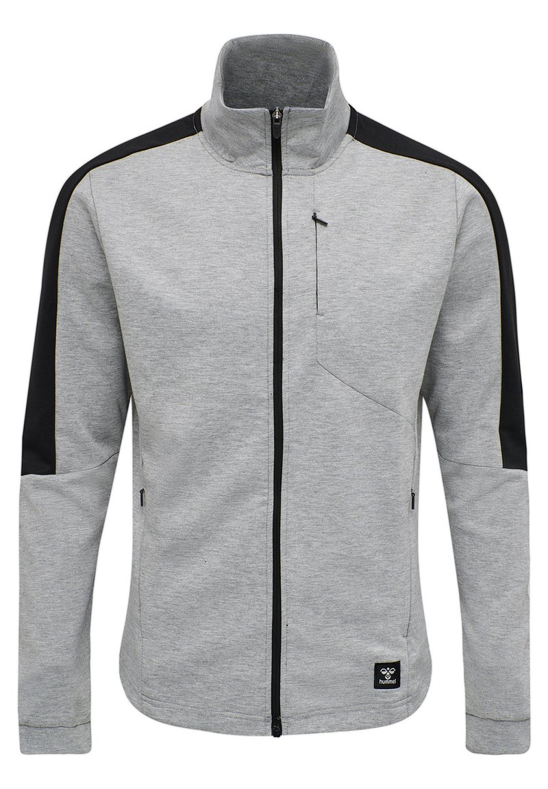 Hummel - HMLTROPPER - Zip-up hoodie - grey melange