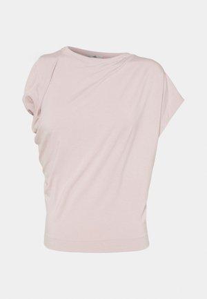 HEBO - Jednoduché triko - dusty pink
