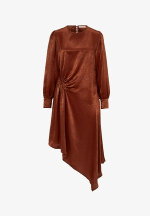 Jersey dress - cognac