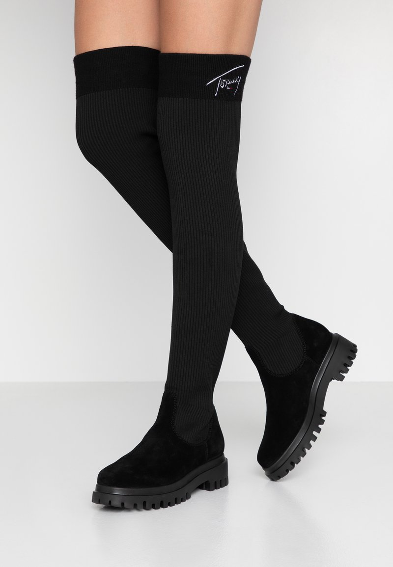 Tommy Jeans - KARLIE 6C - Over-the-knee boots - black