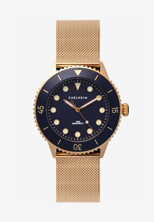 DIVER 40MM MESH - Horloge - rose gold-blue