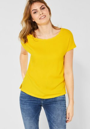 MIT WELLENKANTE - Blouse - yellow