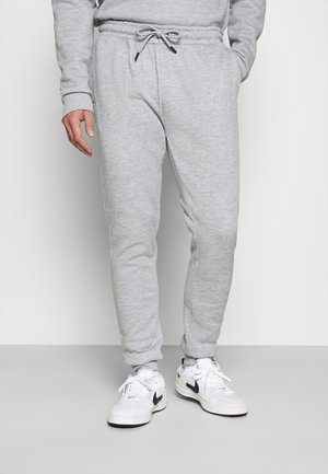 TYRELLC - Tracksuit bottoms - grey marl/ jet black