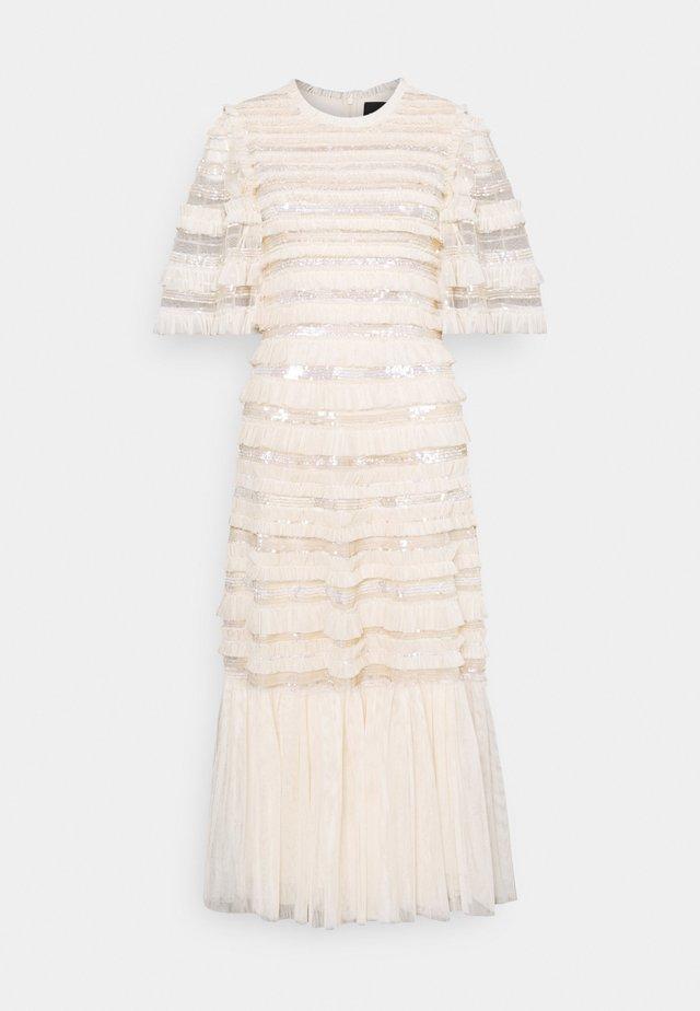 NANCY FRILL BALLERINA DRESS - Sukienka koktajlowa - champagne