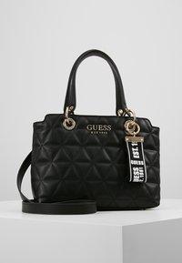 Guess - LAIKEN SMALL SATCHEL - Handbag - black - 0
