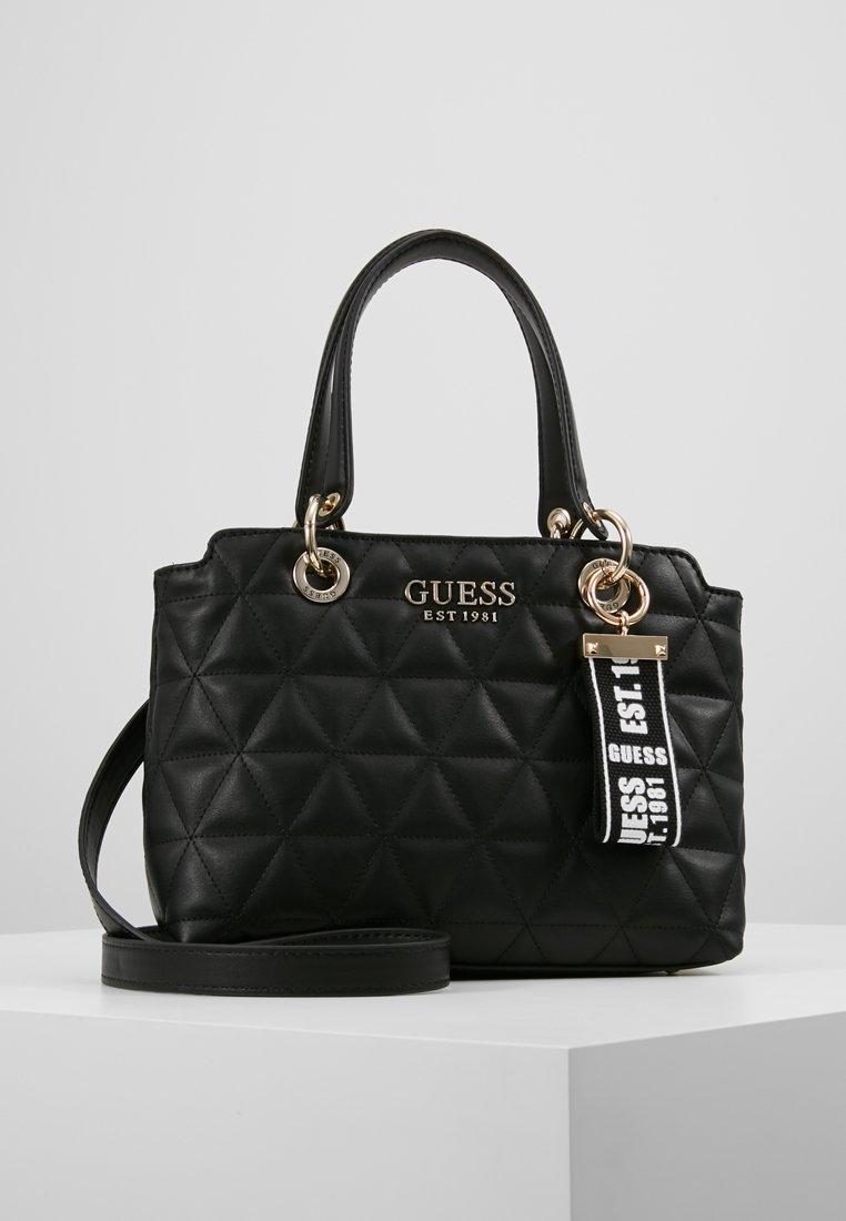 Guess - LAIKEN SMALL SATCHEL - Handbag - black