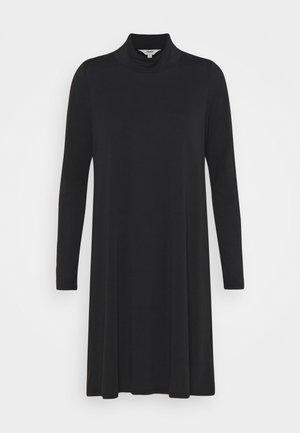 OBJANNIE HIGHNECK DRESS - Jerseykjole - black