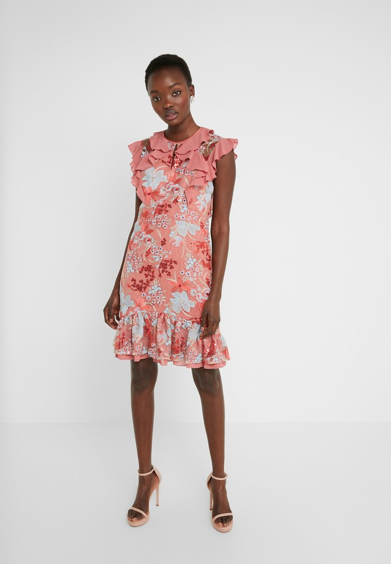 Three Floor - EXCLUSIVE DRESS - Cocktail dress / Party dress - red/multi-coloured
