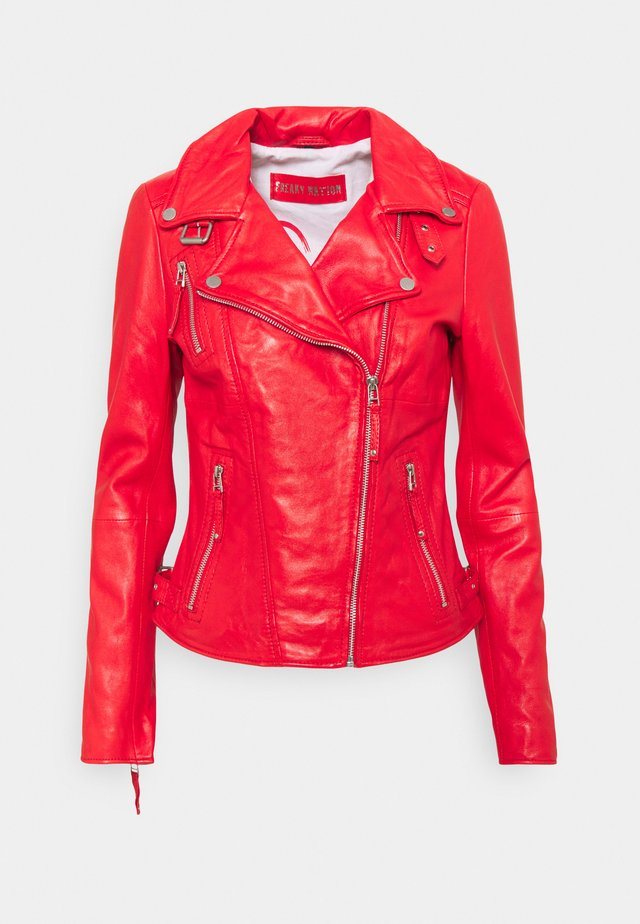 PRINCESS - Leather jacket - oxy fire