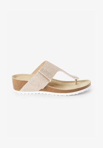 FOREVER COMFORT®  - T-bar sandals - rose gold-coloured