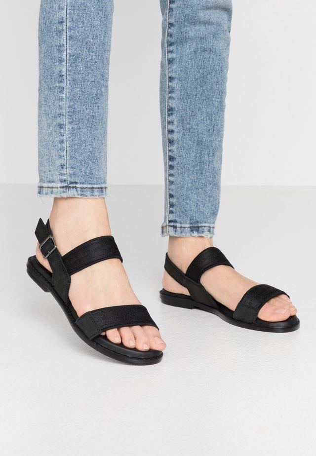 NAVIK FLAT - Sandals - black