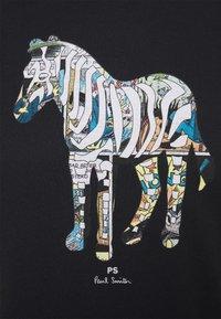 PS Paul Smith - SLIM FIT ZEBRA UNISEX - Print T-shirt - black - 2