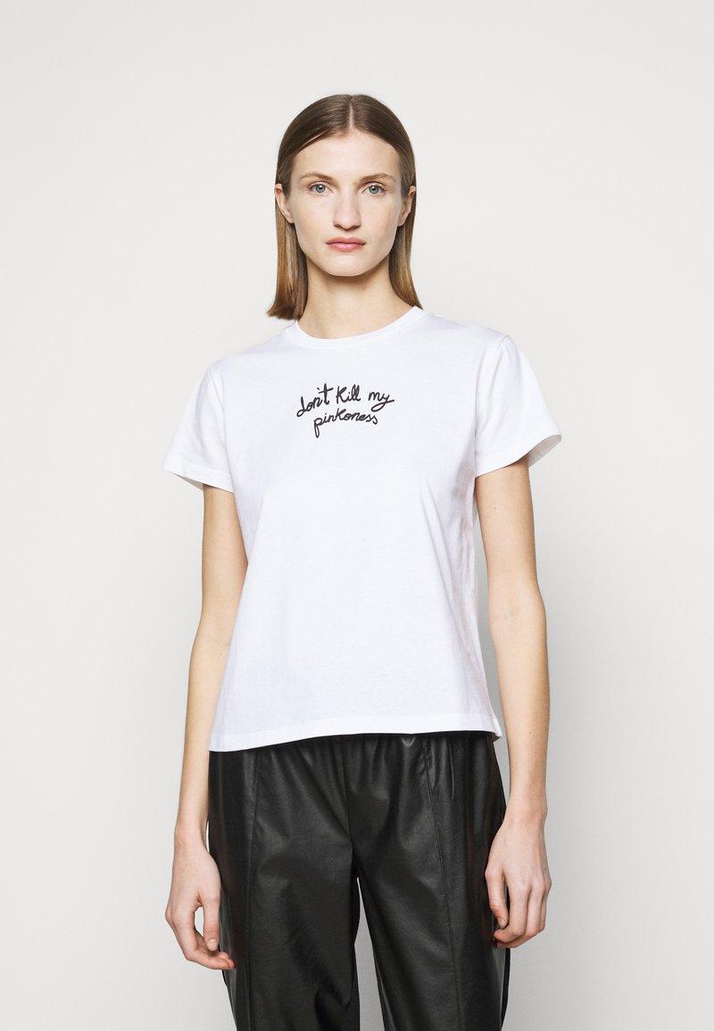 Pinko - ETIMOLOGIA - T-shirt imprimé - white
