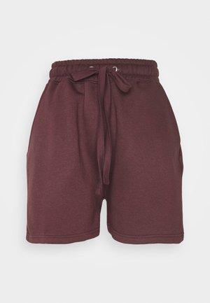 OVERSIZED LONG LINE - Teplákové kalhoty - burgundy