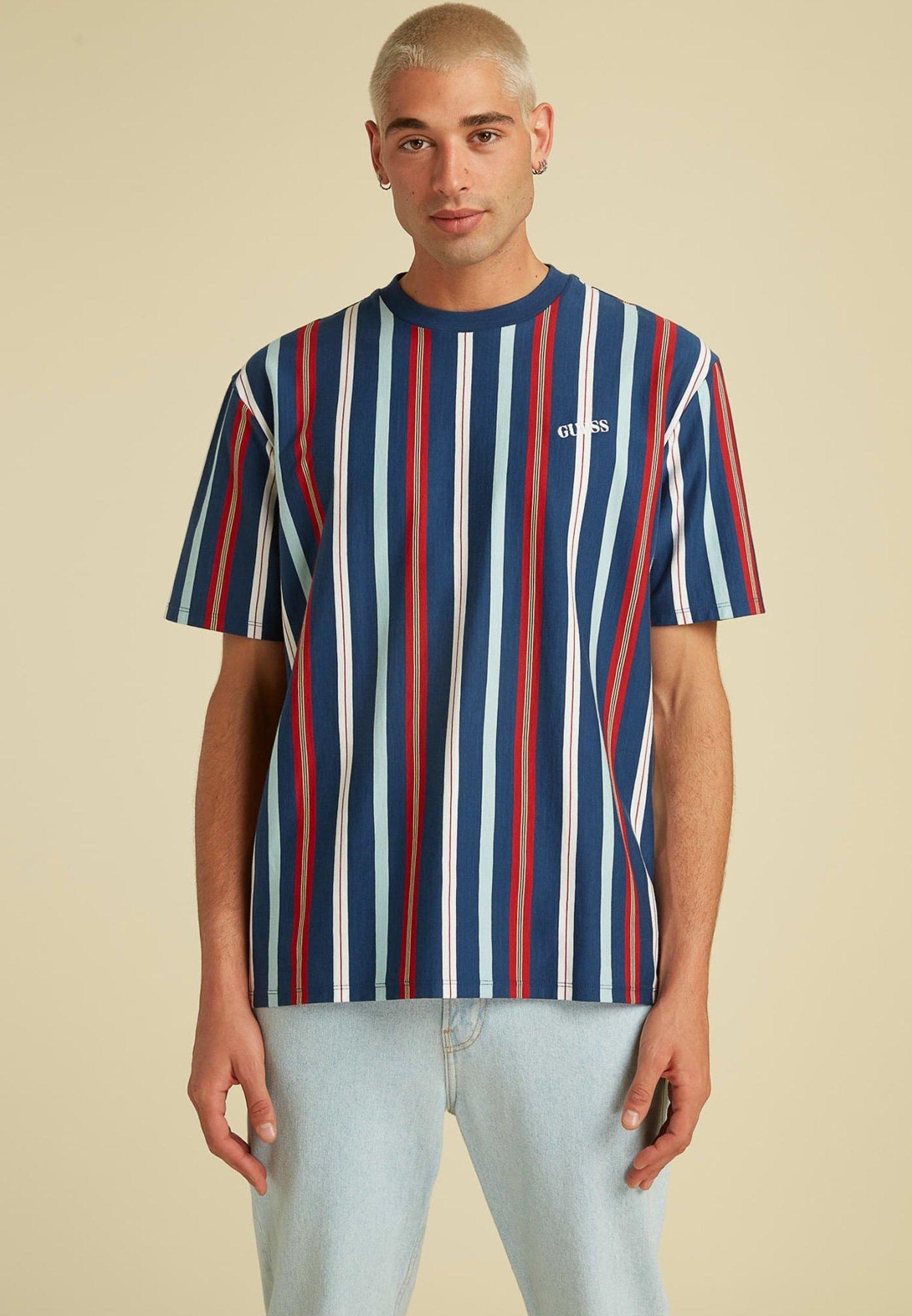 Herren STREIFENMUSTER LOGO - T-Shirt print