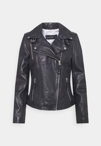 PRINCESS - Leather jacket - navy