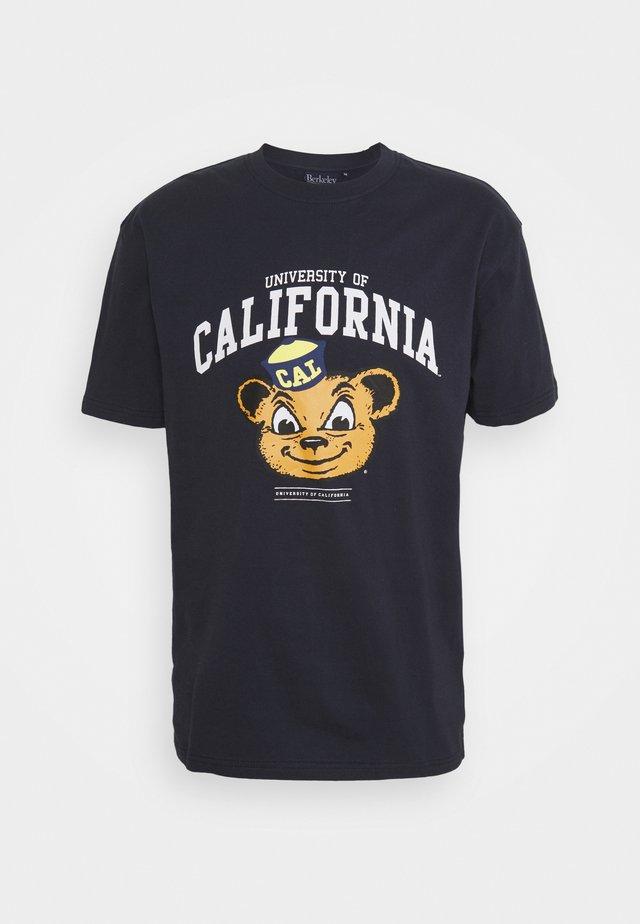 CALI BEARTEE - T-shirt print - navy