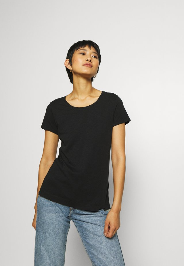 ARDEN O NECK TEE - T-shirt basique - black
