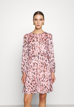 STRIPE BURNOUT DRESS - Cocktail dress / Party dress - pink multi