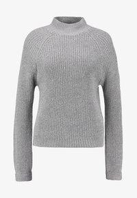 NMSIESTA HIGH NECK CROPPED - Jumper - medium grey melange