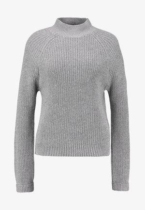 NMSIESTA HIGH NECK CROPPED - Strikpullover /Striktrøjer - medium grey melange