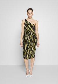 MANÉ - FOREST DRESS - Sukienka koktajlowa - nude/moss - 1
