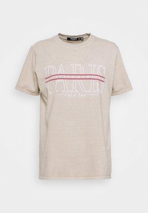 PARIS GRAPHIC - T-shirt med print - stone