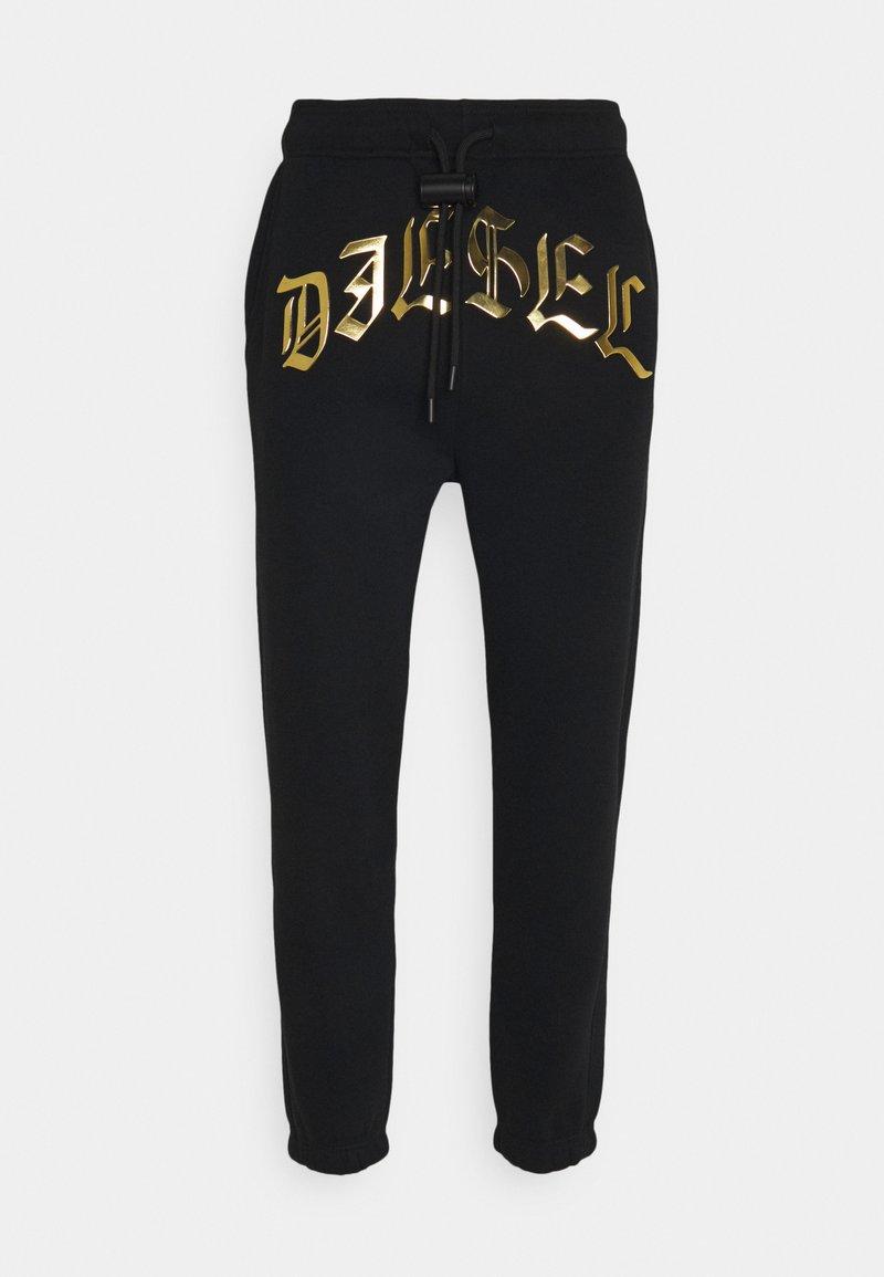 Diesel - P-CALTON-A1 PANTALONI - Teplákové kalhoty - black/gold