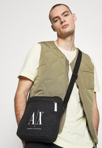 Armani Exchange - SMALL CROSSBODY BAG - Across body bag - black - 1