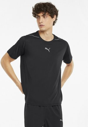 COOLADAPT RUNNING TEE  - Basic T-shirt - puma black