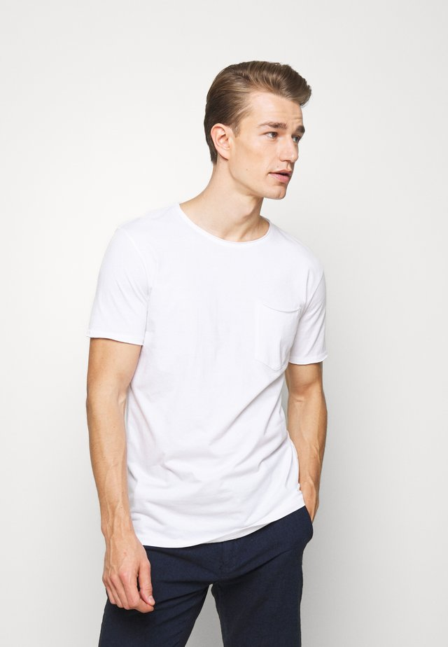 WASHED TEE - T-shirts basic - white