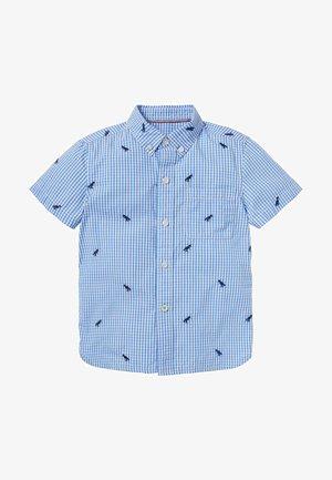 Shirt - himmelblau/naturweiß, vichykaros/dinos