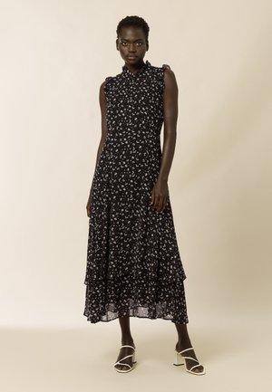 Maxi dress - aop- black
