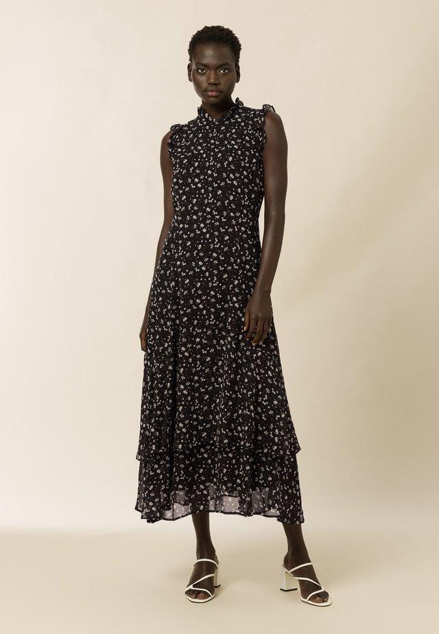 Robe longue - aop- black