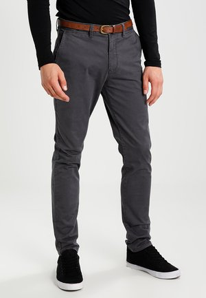 JJICODY JJSPENCER - Kangashousut - dark grey