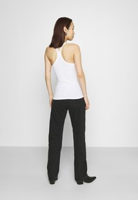 Weekday - ARROW LOW - Straight leg jeans - washed black - 2
