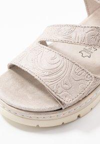 Jana - Platform sandals - pepper/light gold - 2